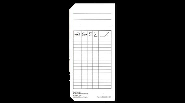 Stempelkarte kodoert Typ 2-4